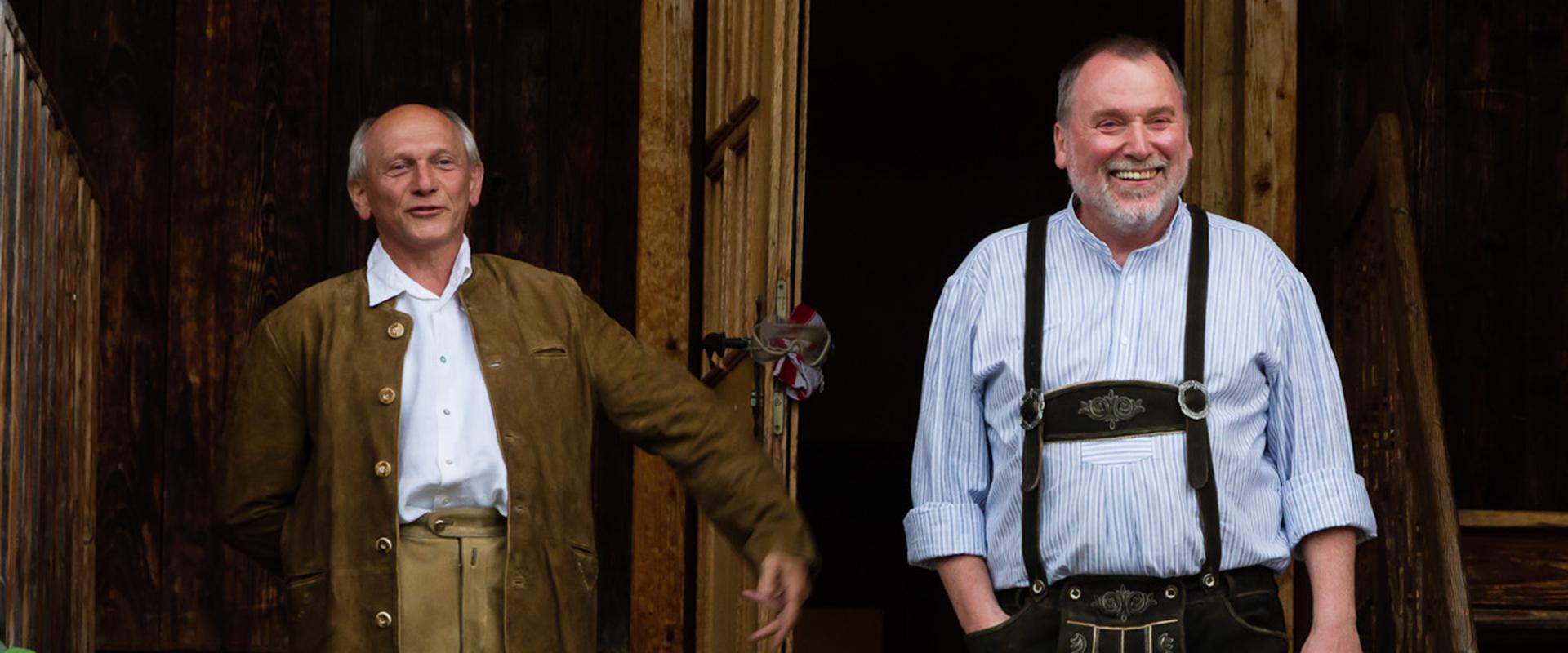 Meisterschüler Richard Sämmer und Werner Broch in Agatharied - Foto: ralf Eiser