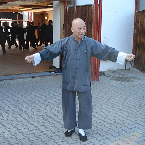 Großmeister Chu King-hung beim Unterricht in Agatharied - Foto: Christine Rühmer