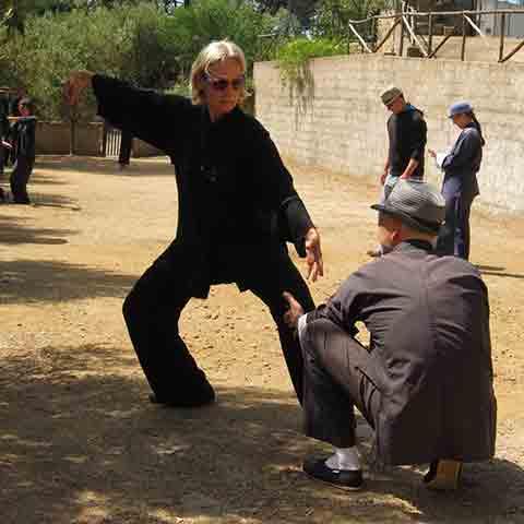 Test einer Tai Chi Position
