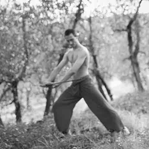Nikolai Sämmer bei der Tai Chi Schwert Form