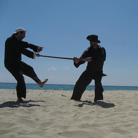 Markus Haunschild bei der Tai Chi Schwertform, Test