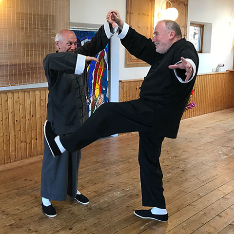 Richard Sämmer und Werner Broch, Demonstration Tai Chi; Foto: Christine Rühmer