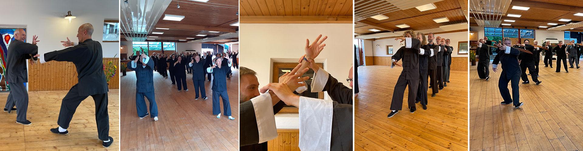 Richard Sämmer und Werner Broch, Demonstration Tai Chi; Foto: Christine Rühmer